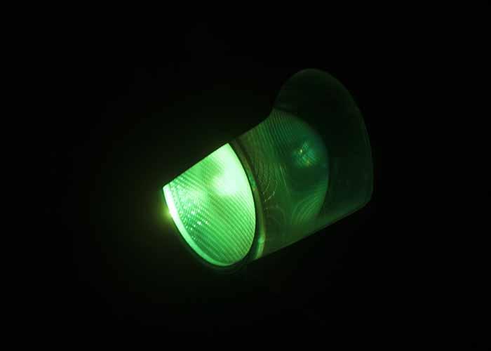 Grünes Ampelsignal